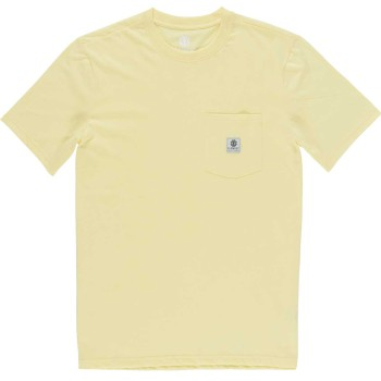 T-Shirt Basic Pocket Label Yellow