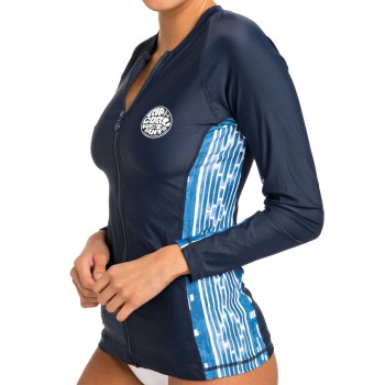 Lycra Rip Curl Moontide Zip Thru L/S Blue 2019