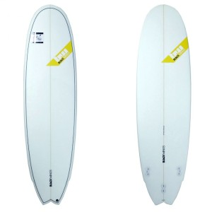 Planche surf Black Wings 6'9 FISH 6PACK cristal clear