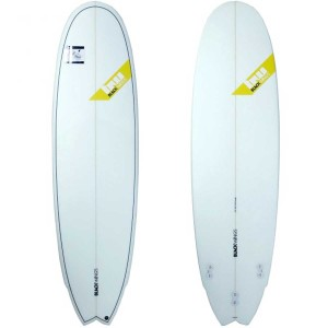 Planche surf BlackWings 6'9 FISH 6PACK cristal clear