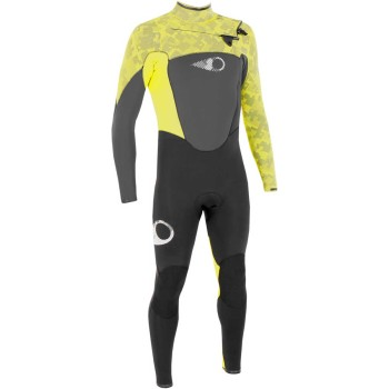 Combinaison Sooruz Fighter 3/2mm 2019 Front Zip Yellow