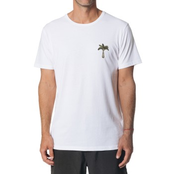 T-Shirt Rip Curl Emblem Optical White