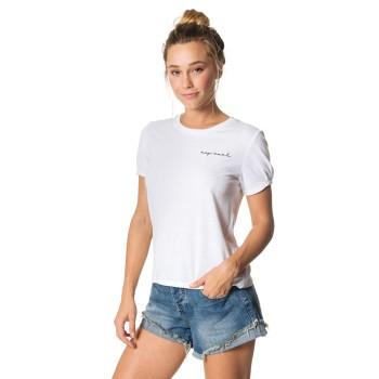 T-Shirt Femme Rip Curl La Dolce Vita White