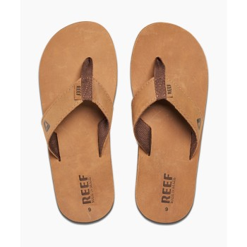 Tongues Reef Leather Smoothy Bronze Brown