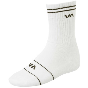 Chaussettes RVCA union Skate Sock White