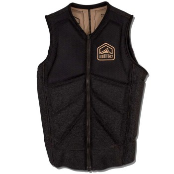 Gilet Wake Impact vest Liquid Force cardigan 2019 Noir
