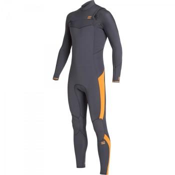 Combinaison Billabong Furnace Absolute 4/3mm Front Zip 2020 - Orange