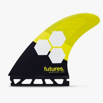 Ailerons Futures Thruster - FAM2 Al Merrick RTM Hex black & yellow Taille Large