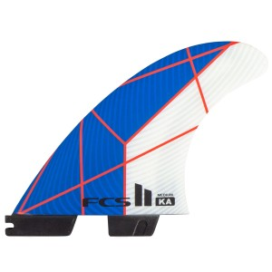 Ailerons FCS II KA PC Tri Set Bleu/Blanc