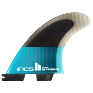 Ailerons FCS II Performer PC Teal/Black Tri Set -