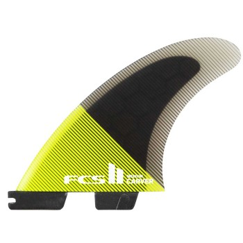Ailerons FCS II Carver PC Yellow Acid/Black Tri Set
