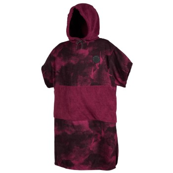 Mystic Poncho Allover Oxblood Red