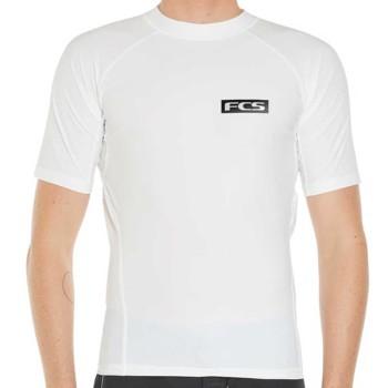 Lycra FCS SS Rash Vest Blanc 2020