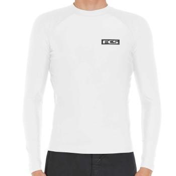 Lycra FCS LS Rash Vest Blanc 2020