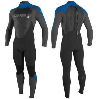 Combinaison O'Neill Epic 5/4 Back Zip Full Black/Ultra Blue/Dayglo
