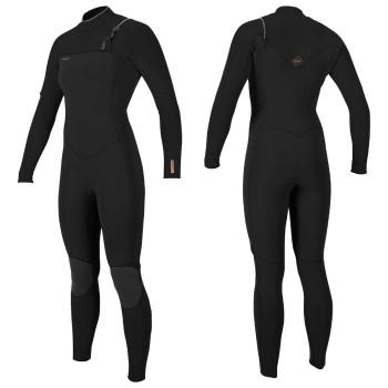 Combinaison O'Neill Femme Wms Hyperfreak 4/3+ Chest Zip Full Black / Black