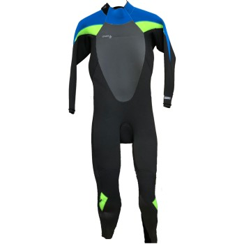 Combinaison O'Neill Epic 5/4 Back Zip Full Black/Ultra Blue/Dayglo