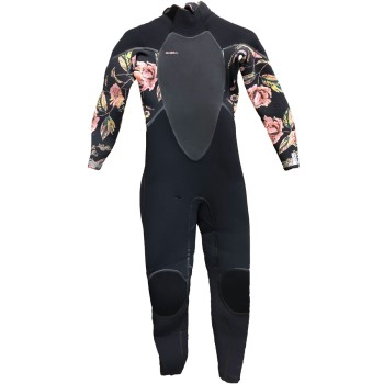 Combinaison O'Neill Femme Psycho Tech 5/4 Backt Zip Full Black/Flo