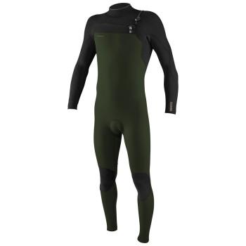 Combinaison O'Neill Homme Hyperfreak 4/3 Chest Zip Ghost Green / Black