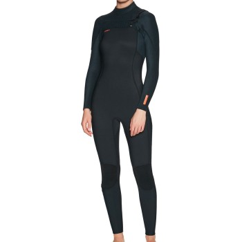 Combinaison O'Neill Femme Hyperfreak 4/3 Chest Zip Full Black