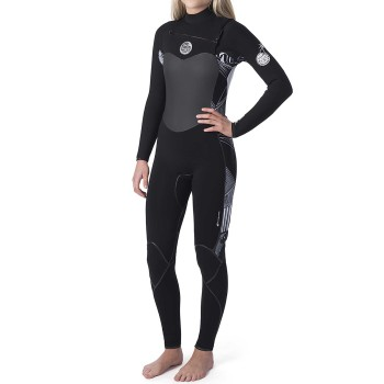 Combinaison Rip Curl Flash Bomb WMNS 5/3mm Front Zip 2020 Black-White