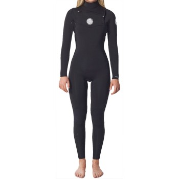 Combinaison Rip Curl Femme Dawn Patrol 4/3mm Chest Zip 2021 Black