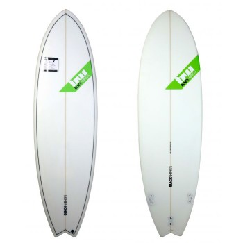 Planche surf Blackwings 6'0 FISH Cristal Clear