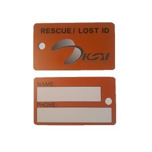 Etiquette de marquage règlementaire pour Kitesurf (aile et planche - unité)