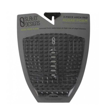 Pad surf Slater Design - Traction 3 pieces Black-Grey