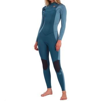 Combinaison Billabong 2021 Femme Synergy 4/3mm Chest Zip Blue Seas