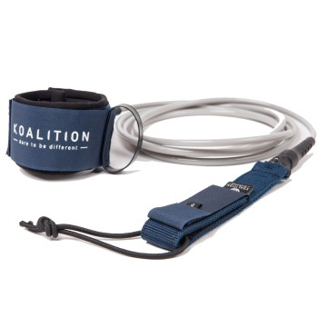 Leash Koalition Navy Blue Silver Regular 7mm