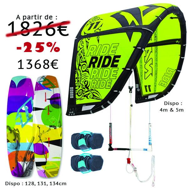Pack Kitesurf Naish Ride 2014 North Soleil 2013