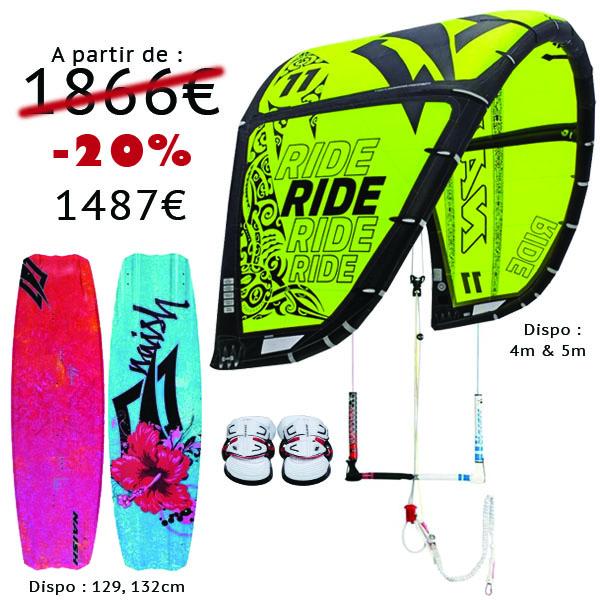 Pack Kitesurf naish ride et alana 2014